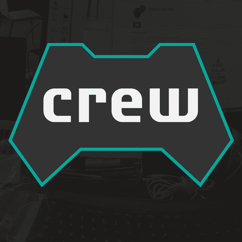 Logo of the crew on a dark background